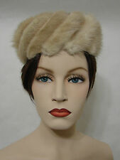 Vintage Fur Mink? Fox? Hat Union Labeled With Vented Head Insert Edie Adams Mint