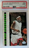2003 Upper Deck UD Top Prospects LeBron James Rookie RC #55, Graded PSA 9 Mint