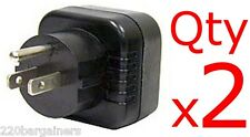 US Grounded Plug Adapter 2PK- Change Schuko European Plug into 3-Pin US Plug