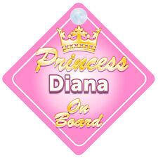 La principessa Diana A BORDO PERSONALIZZATA BABY GIRL Auto Firmare