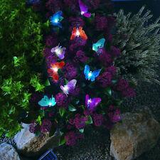 ficelle jardin fée papillons énergie solaire 12 LED allume mariage extérieur SH