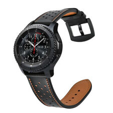 For Gear S3 Frontier / Gear S3 Classic 22mm  Watch Band Genuine Leather Strap