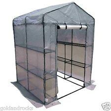 NEW Greenhouse Shelves Large Walk In Green Hot Shade House Seedling Sturdy frame