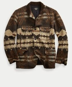 Ralph Lauren RRL Shatland Wool-cotton Southwestern Jacquard Jacket M RRP £1215