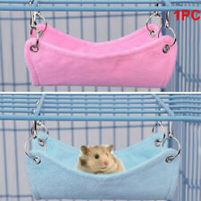 Cute Plush Warm Hammock Hanging Bed for Hamster Rat Small Pet Cage House