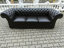 Ledersofa Sofa Couch Polster 3 Sitzer Chesterfield Klassik Neu Sofort lieferbar