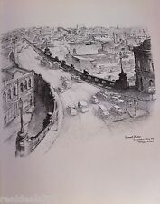 Vintage Original Cedric Emanuel Print 1970- Pyrmont Bridge, Darling Harbour, Syd