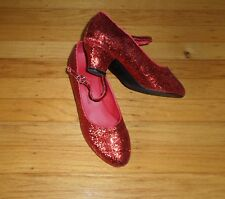 Red glitter Dance Shoes Low Heels Women s Size 6 Very Fine Competetive 4fabd9a3d