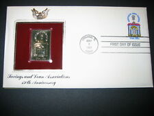 SAVINGS AND LOAN 1981 150TH ANNIVERSARY 22kt Gold GOLDEN Cover replica STAMP