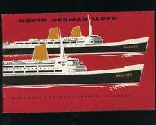 North German Lloyd Brochure - Bremen/Europa - Interior Photos & Descriptions