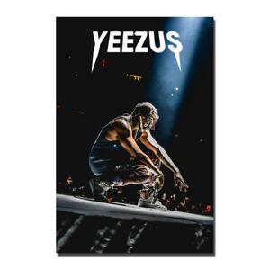 Kanye West - Yezzy USA Grammy Rap HIP HOP Star Silk Canvas Poster 13x20 24x36''