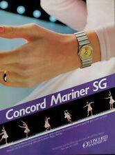 1984 CONCORD MARINER SG  Watch : PEGGY FLEMING ,   Magazine Print AD