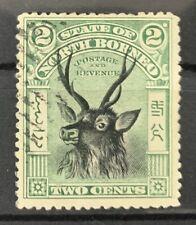 North Borneo 1897-02 - QV 2 cent Black & Green  - Used (AS8)
