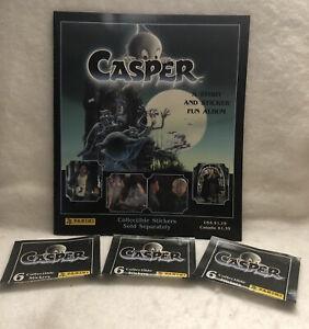 PANINI: 1995 CASPER STICKER ALBUM & 3packs/18pcs STICKER LOT/ PRE OWNED