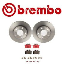 For Audi A4 Quattro Brembo Rear Brake Kit Ceramic Pads Set of Coated Disc Rotors