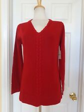 COLDWATER CREEK red sweater size M (10-12)