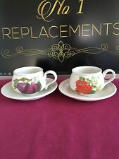 Earthenware British Portmeirion Pottery Cups & Saucers