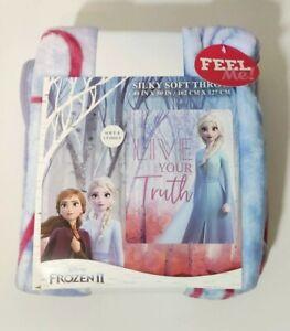 Frozen II Elsa Blanket Throw Live Your Truth Silky Soft