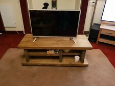 4953bdaee72 TV Stand TV Unit Chunky Rustic Handmade Furniture SolidWood TV Cabinet