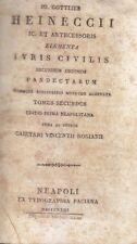 ELEMENTA IURIS CIVILIS SECUNDUM ORDINEM PANDECTARUM V.II 1823 Gottlieb Heineccii