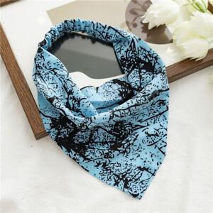 Soft Printed Elastic Hairband Scrunchies Triangular Hair Scarf Headband Headwrap