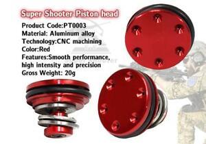 Super Shooter - Aluminum Bearing Piston Head (Red) for AEG - PT0003