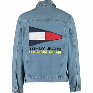 Tommy Hilfiger Men's Classic Blue 90s Sailing-logo Denim Jacket Sz: M , rrp:£145