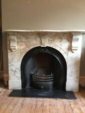 Victorian Cast Iron Fireplace and Marble Antique Style Surround