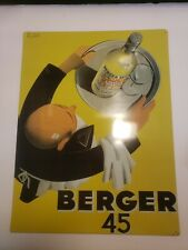office art 'retro Berger 45, Type Marseillais, 1935 Wine poster metal tin sign