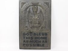Medieval Dragon Bless This Home As Much As Possible Wall Plaque