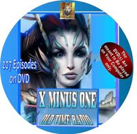 X-MINUS ONE OLD TIME RADIO SHOW - 207 EPISODES - SCIENCE FICTION - MP3 ON DVD
