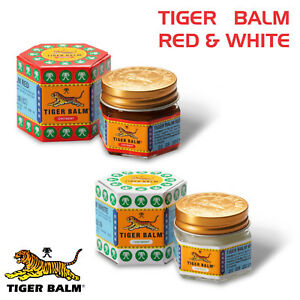 TIGER BALM RED & WHITE 21ML( 21GM ) RELIEF FROM HEADACHES, JOINT MUSCULAR  PAIN