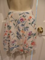 new in pkg frederick's of hollywood FLORAL SHEER swing skirt made in USA MEDIUM