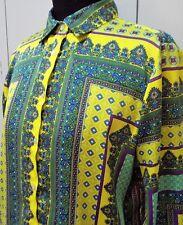 AS NEW Size M ZARA Yellow, Green & Blue Women's Blouse- 51cm Bust