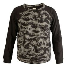 Retro Billabong High Quality Black/Grey Camo Long Sleeved Sweater Top