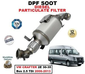 DPF DIESEL SOOT PARTICULATE FILTER for VW CRAFTER 2E 30-35 Bus 2.5 TDi 2006-2013