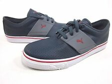 PUMA EL ACE MEN'S LEATHER SNEAKERS,NEW NAVY/CHILI PEPPER,US SIZE 8 MEDIUM
