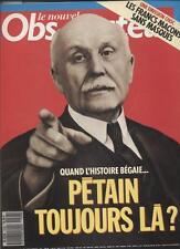 Le Nouvel Observateur   N°1298   21 Au 27 Septembre 1989: Petain toujours la