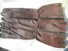 WW2 RAF Gloves Pattern Flying Gauntlets Size Medium New Reproductions
