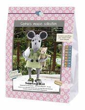 Go Handmade Joan 20cm & Buster 9cm The Mice Sewing Felt Needlework Complete Kit!
