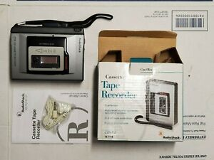 NIB PORTABLE CASETTE TAPE RECORDER RADIO SHACK CTR-112 WITH MANUAL EARBUD H5.3
