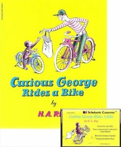 B000BSK25O Curious George Rides a Bike Book and Audiocassette Tape Se