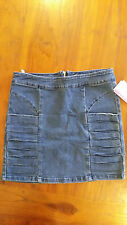 Supre blue fitted denim panel skirt szL BNWT free post D61