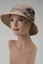 Tan CHEMO SUN HAT COTTON LINED Cancer Patient Cap Cloche Bucket Turban Scarf