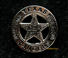 TEXAS RANGERS MINI HAT PIN VEST POLICE LAW ENFORCEMENT VETERAN RETIREMENT GIFT