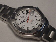 TAG HEUER AQUARACER WHITE DIAL WAY2013 AUTOMATIC 300M DIVER, BOXES/PAPERS, MINT