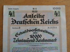 1935 Nazi German Berlin Treasury Bond-10000 Reichsmark Bond-4 1/2%