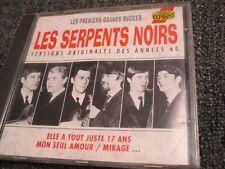 """RARE! CD """"LES SERPENTS NOIRS : LES PREMIERS GRANDS SUCCES"""""""