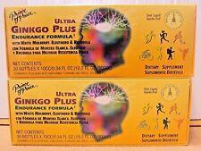 Lot 2 Prince Of Peace Ultra Ginkgo Plus Endurance Eleuthero Rhodiola - 30 Bottle