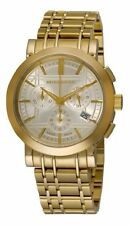 *USA SELLER* NEW SWISS AUTHENTIC BURBERRY BU1757 YELLOW GOLD LUXURY UNISEX WATCH